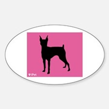 Pinscher iPet Oval Decal