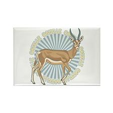 Gazelle Animal Classic Rectangle Magnet