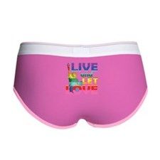 Live Let Love Statue of Liberty Women's Boy Brief