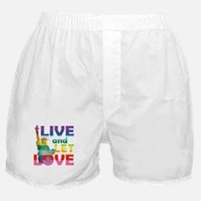 Live Let Love Statue of Liberty Boxer Shorts