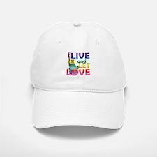 Live Let Love Statue of Liberty Baseball Baseball Baseball Cap