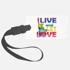 Live Let Love Statue of Liberty Luggage Tag