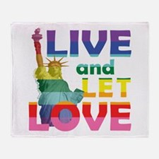Live Let Love Statue of Liberty Throw Blanket