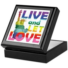Live Let Love Statue of Liberty Keepsake Box