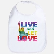 Live Let Love Statue of Liberty Bib