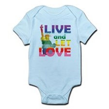 Live Let Love Statue of Liberty Body Suit