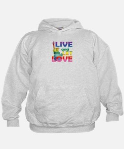 Live Let Love Statue of Liberty Hoodie