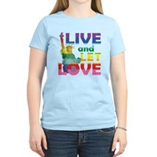 Live Let Love Statue of Liberty T-Shirt