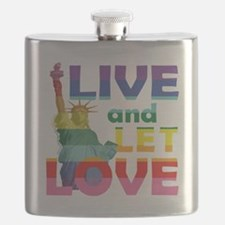 Live Let Love Statue of Liberty Flask