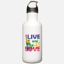 Live Let Love Statue of Liberty Water Bottle