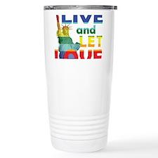 Live Let Love Statue of Liberty Travel Mug