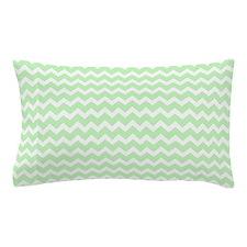 Mint White Chevron Pattern Pillow Case