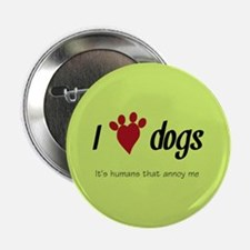 "I Heart Dogs 2.25"" Button"