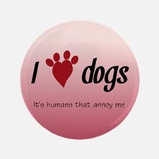 "I Heart Dogs 3.5"" Button"