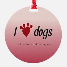 I Heart Dogs Ornament