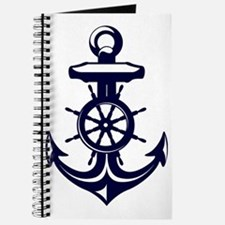 Antique Navy Blue Anchor Journal