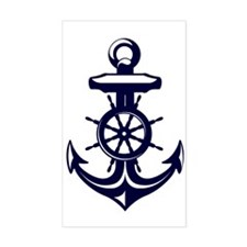 Antique Navy Blue Anchor Stickers