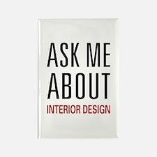 Ask Me Interior Design Rectangle Magnet