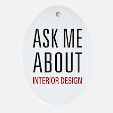 Ask Me Interior Design Oval Ornament