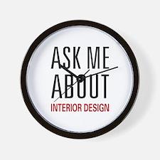 Ask Me Interior Design Wall Clock