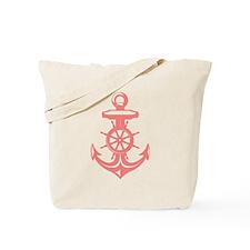 Antique Coral Anchor Tote Bag