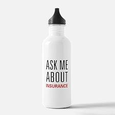 Ask Me Insurance Water Bottle