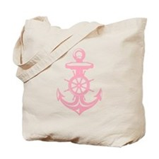 Pink Antique Anchor Tote Bag