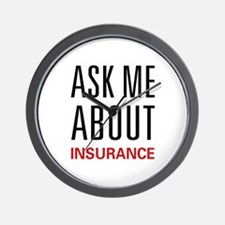 Ask Me Insurance Wall Clock
