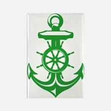 Kelly Green Antique Anchor Rectangle Magnet