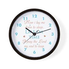 Now I Lay Me Down To Sleep... Wall Clock