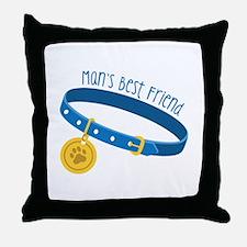 Mans Best Friend Throw Pillow