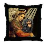 Madonna & Cavalier (BT) Throw Pillow