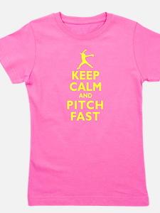 Personalized Keep Calm Baseball Girl's Tee