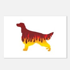 Setter Flames Postcards (Package of 8)