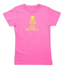 Personalized Keep Calm Baseball Girl's Tee