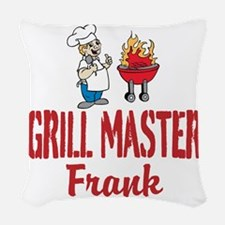 Personalized BBQ Woven Throw Pillow