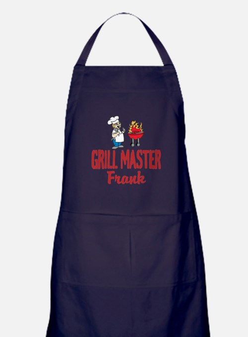 Personalized Bbq Apron (dark) For Men