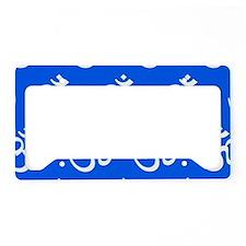 Om, Ohm, Yoga, BLUE License Plate Holder