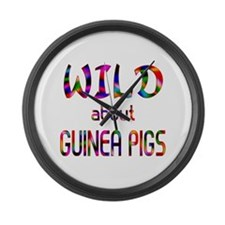 Wild About Guinea Pigs Large Wall Clock