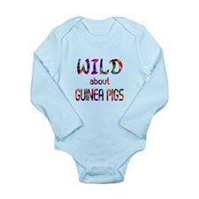 Wild About Guinea Pigs Long Sleeve Infant Bodysuit
