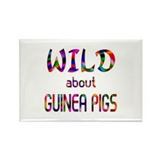 Wild About Guinea Pigs Rectangle Magnet (10 pack)