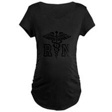 RN Nurse Caduceus Maternity T-Shirt