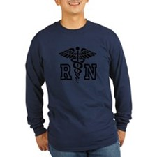 RN Nurse Caduceus Long Sleeve T-Shirt