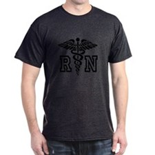 Rn Nurse Caduceus Symbol T-Shirt