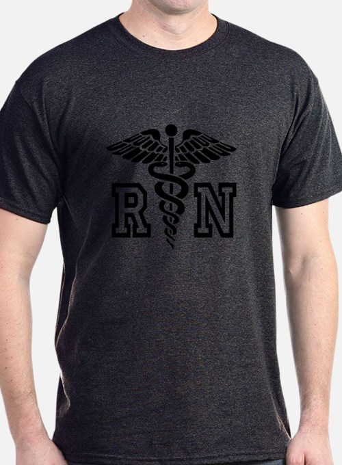 Rn Nurse Caduceus Symbol T-Shirt