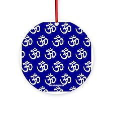 Om, Ohm, Yoga, ROYAL BLUE Ornament (Round)