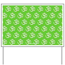 Om, Ohm, Yoga, GREEN Yard Sign