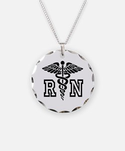Rn Registered Nurse Caduceus Necklace