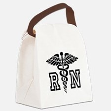 RN Nurse Caduceus Canvas Lunch Bag