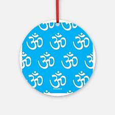 Om, Ohm, Yoga, TEAL Ornament (Round)